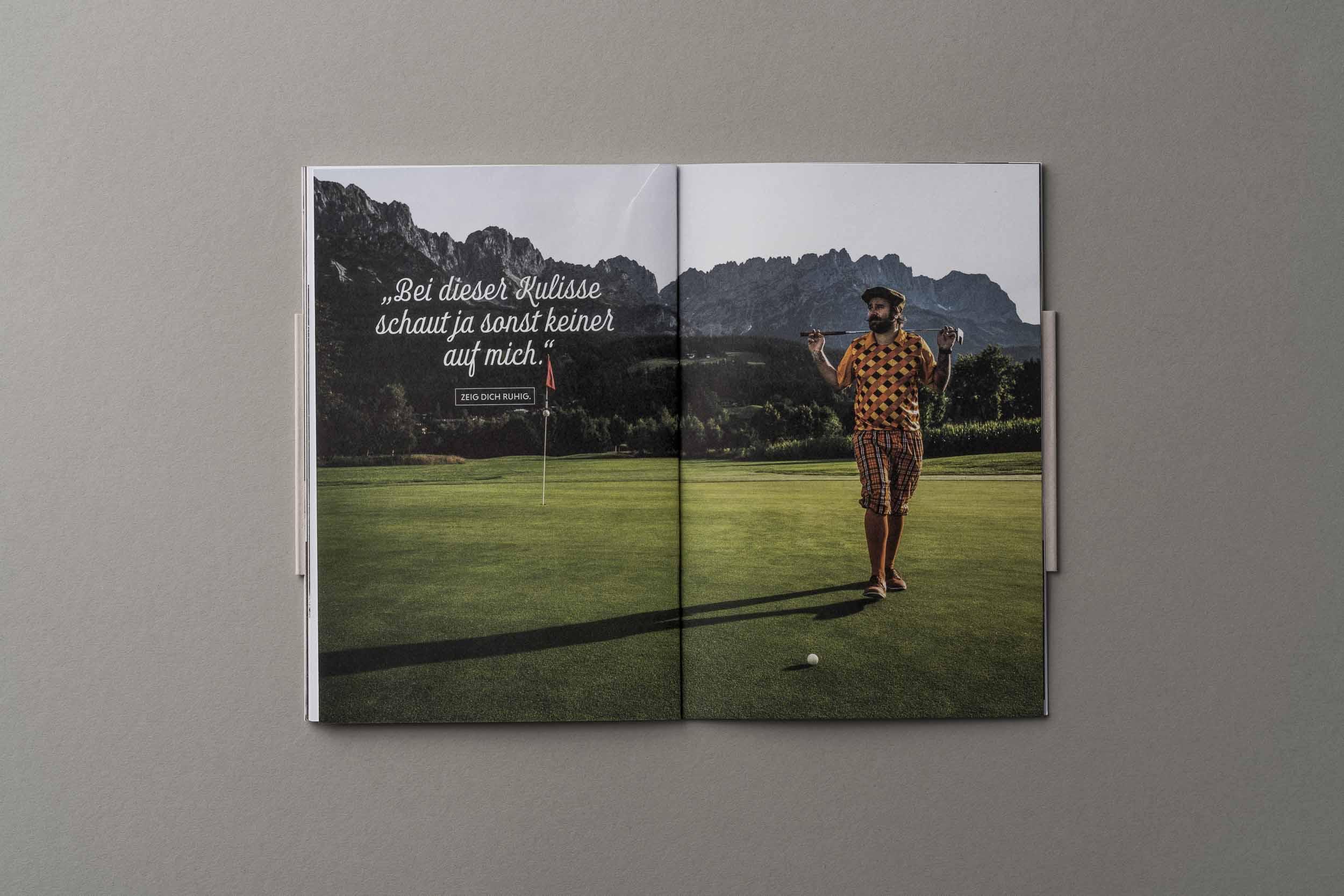 "Imagemotiv ""Golfer"" im Föhrenhof-Imagefolder."