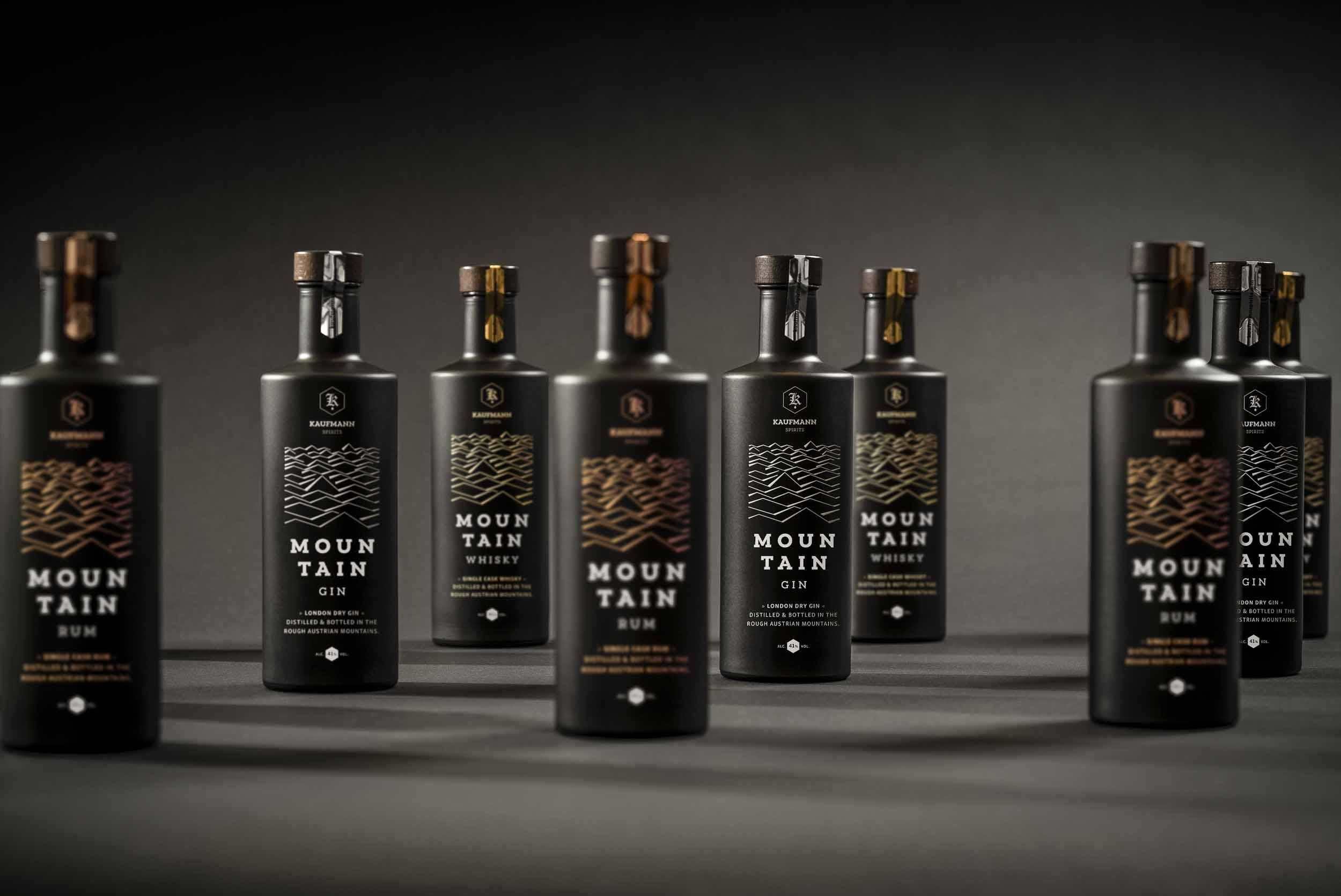 Mountain Gin, Mountain Rum, Mountain Whisky.