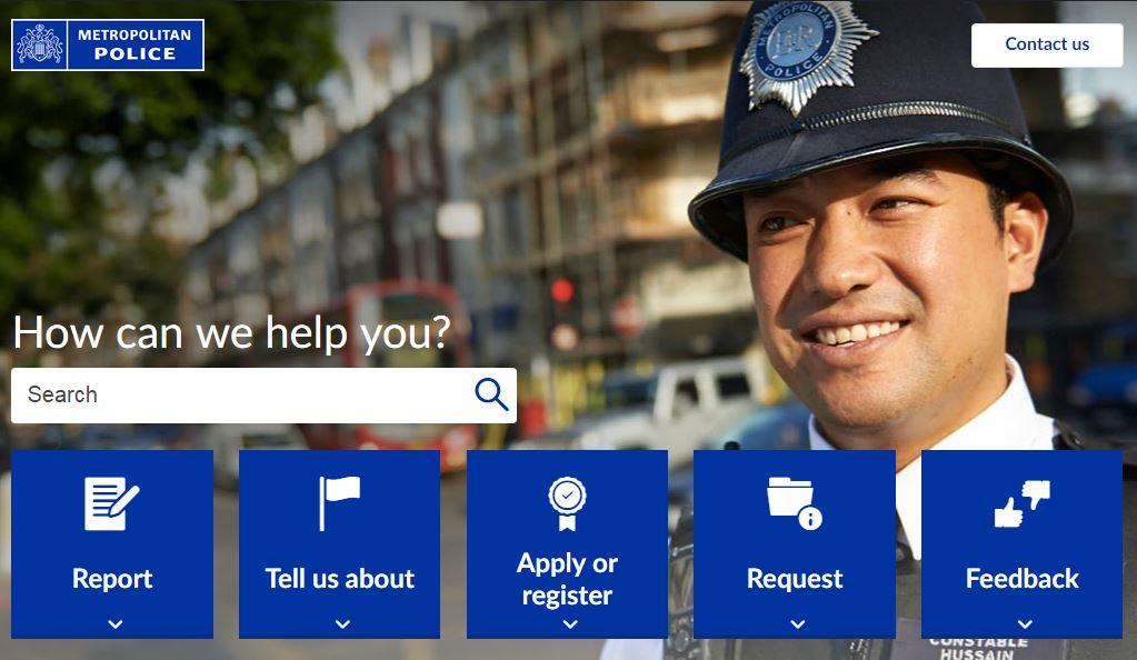 Met police web site 2