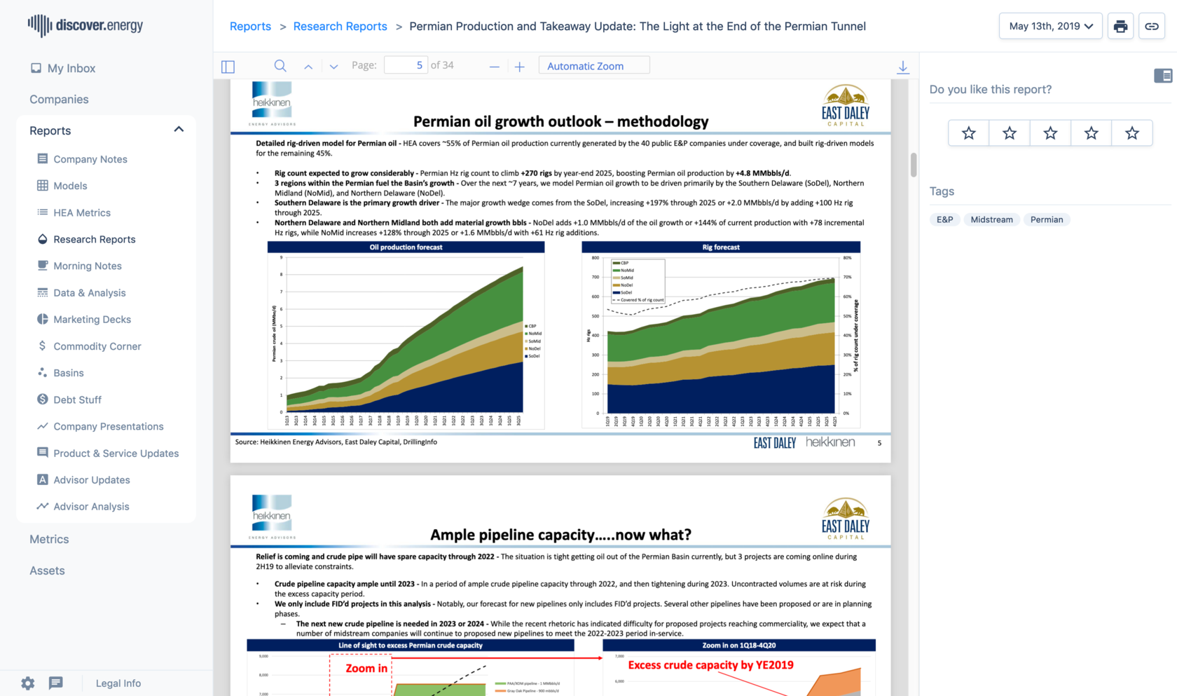A research report screenshot