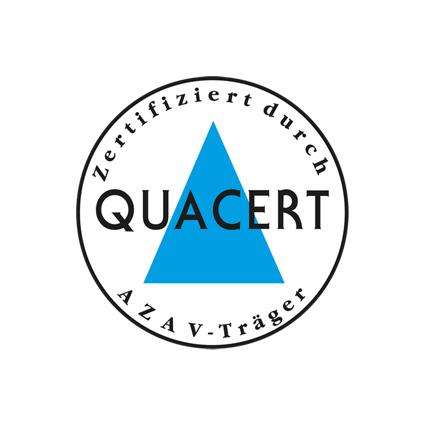 Zertifiziert durch Quacert, AZAV Träger
