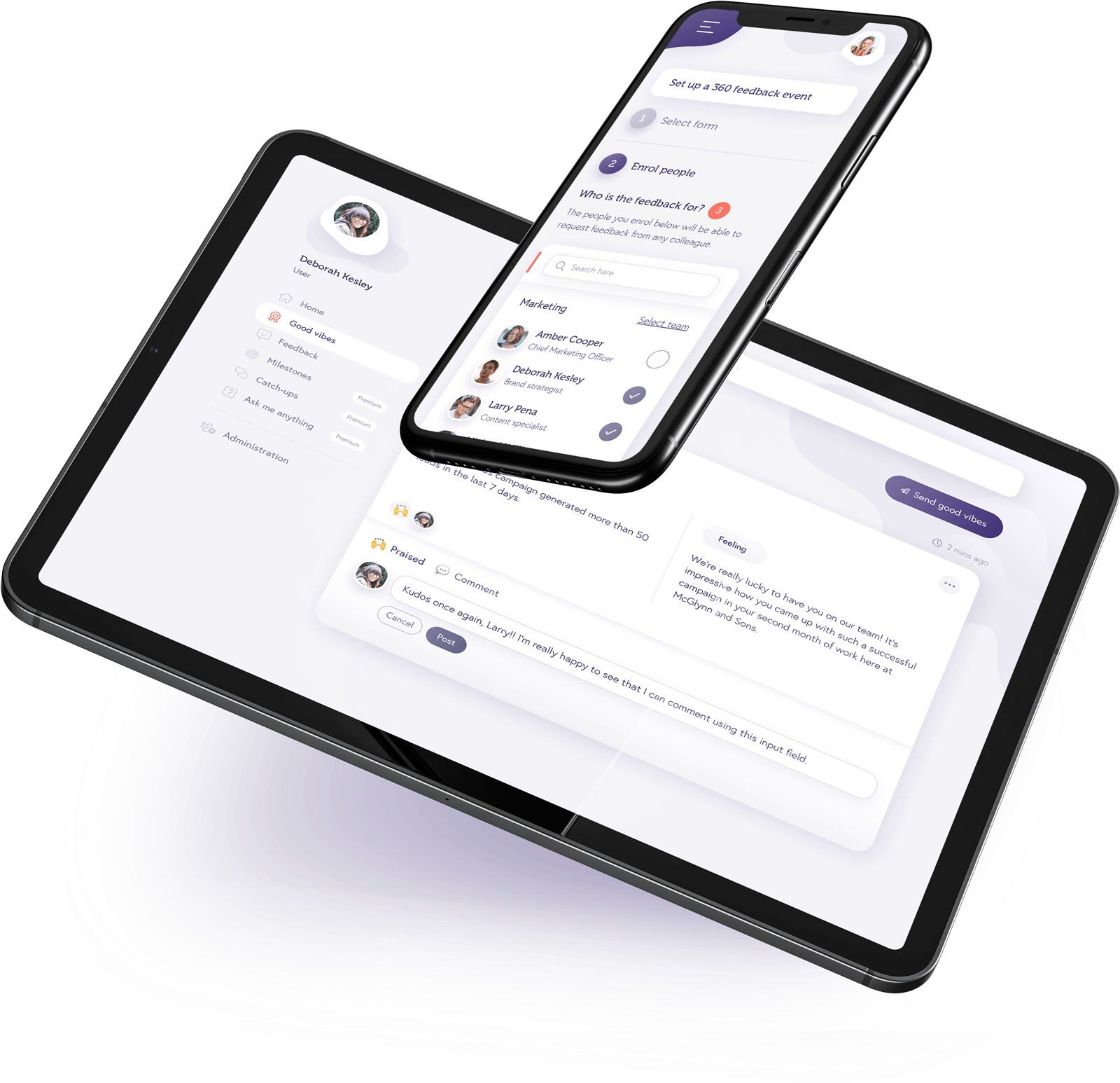 Howamigoing platform on phone and tablet