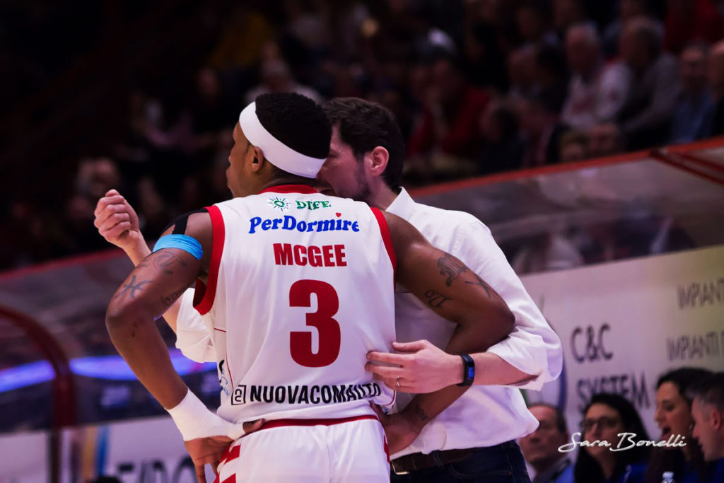 Pistoia Basket al Palacarrara durante la stagione 2018