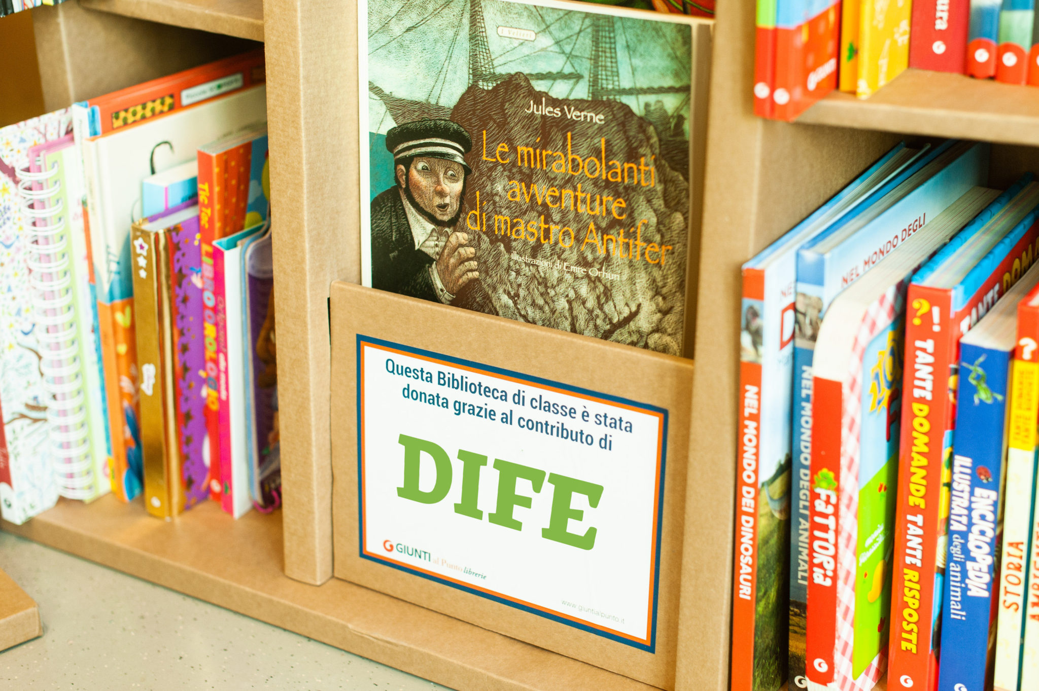 La biblioteca donata da Dife SpA all'ospedale pediatrico San Jacopo di Pistoia