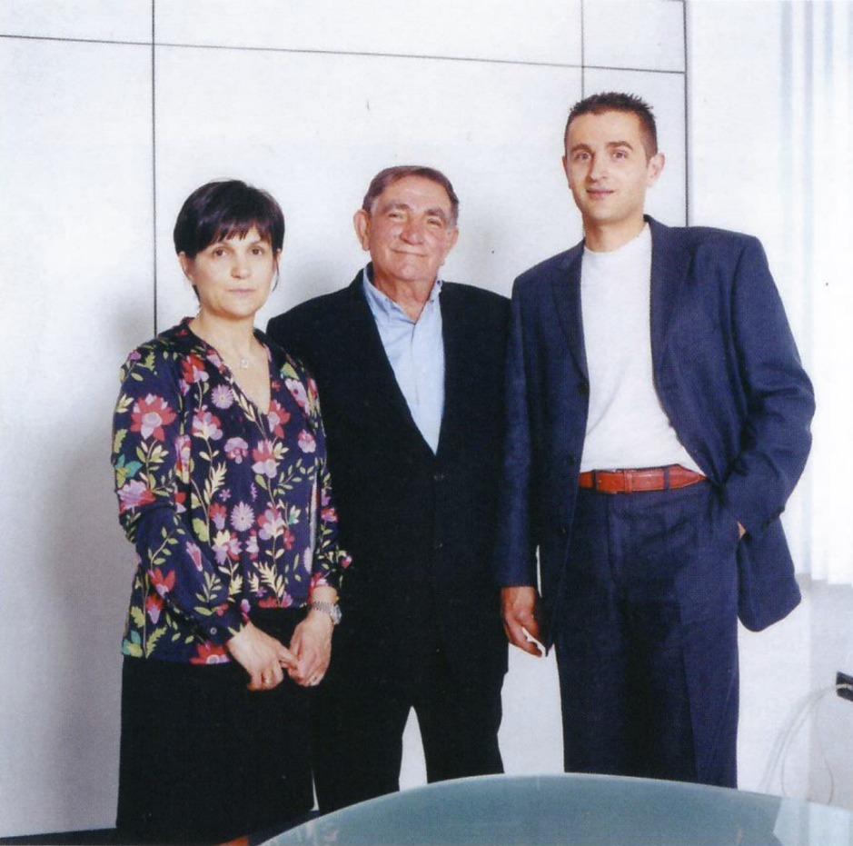 Fernando Tissi con i figli Sabrina e Alessio