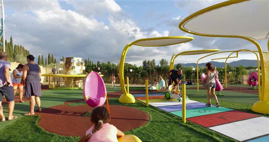 Il Girasole - parco giochi - gomma riciclata