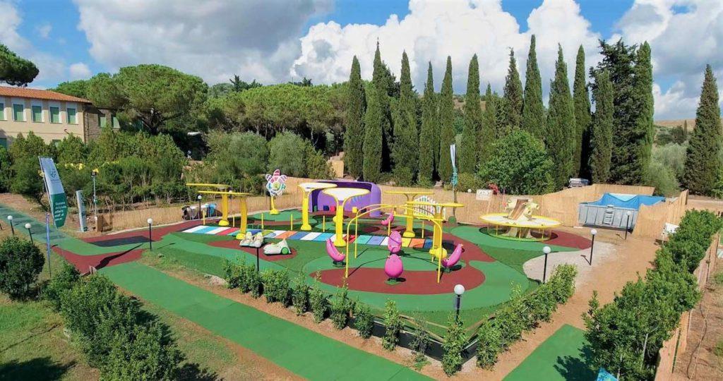 Il Girasole - parco Tuttingioco - gomma riciclata