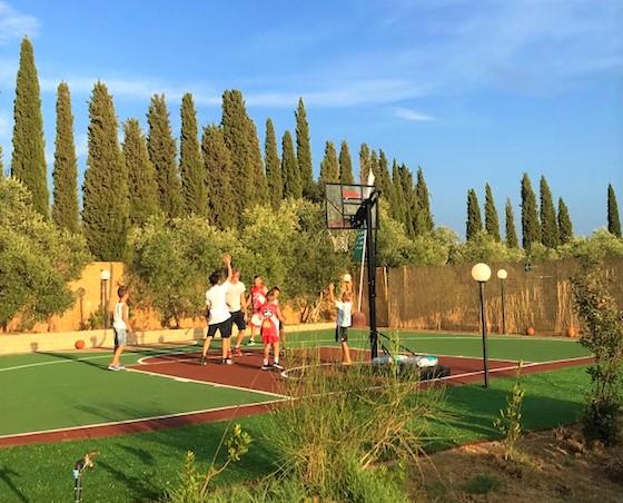 Il Girasole - campo basket - gomma riciclata