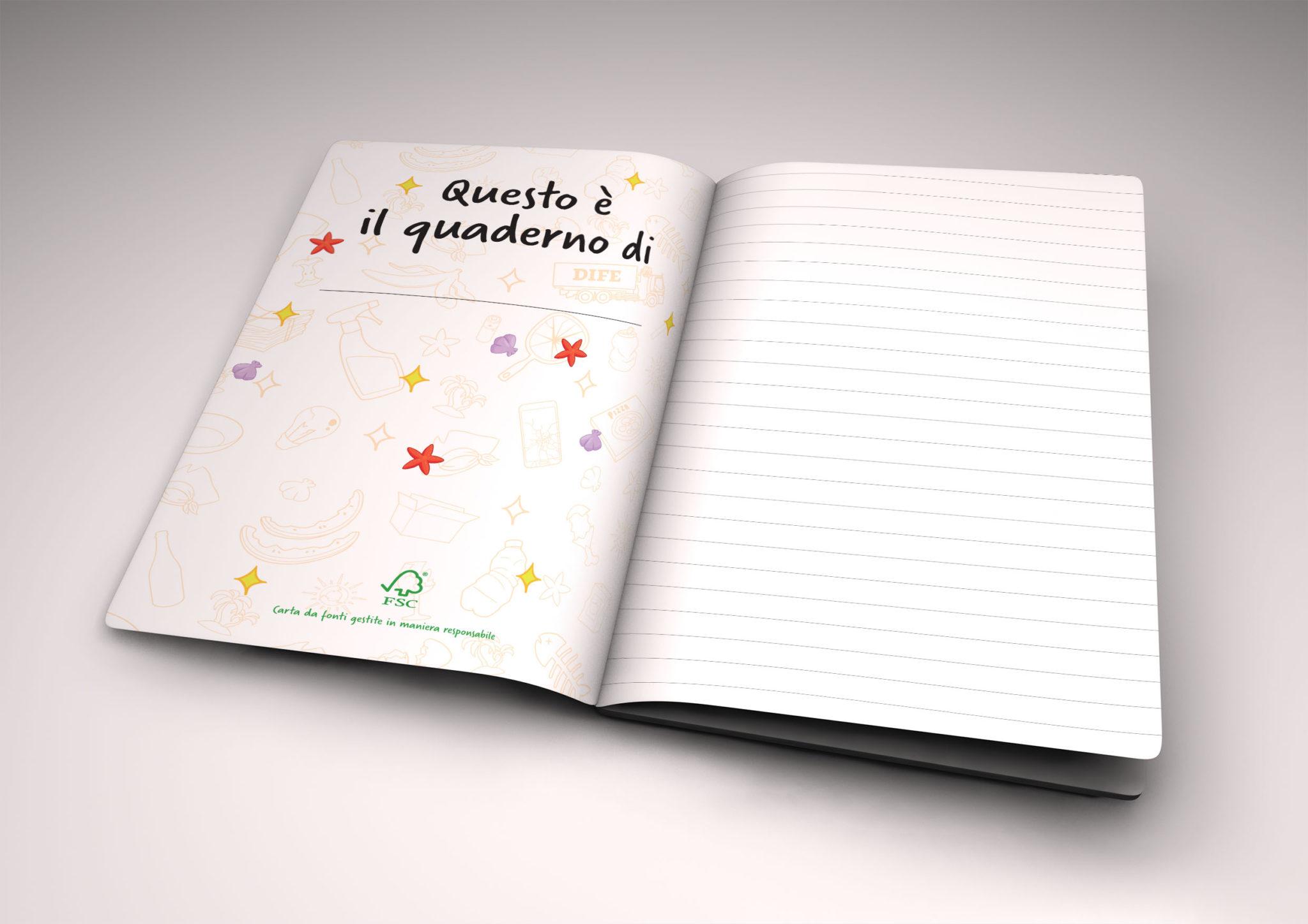 Quaderno DIFE-nuovi gadget