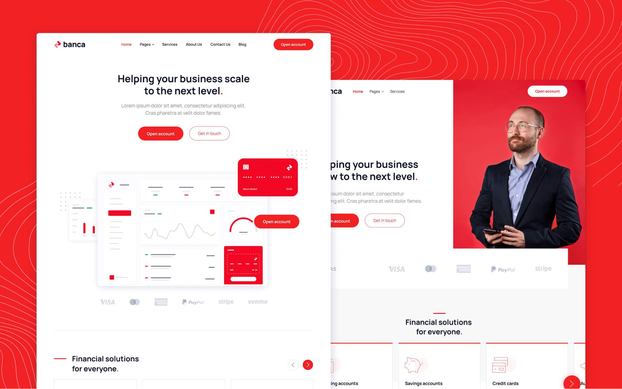 Bank & Fintech Webflow Template