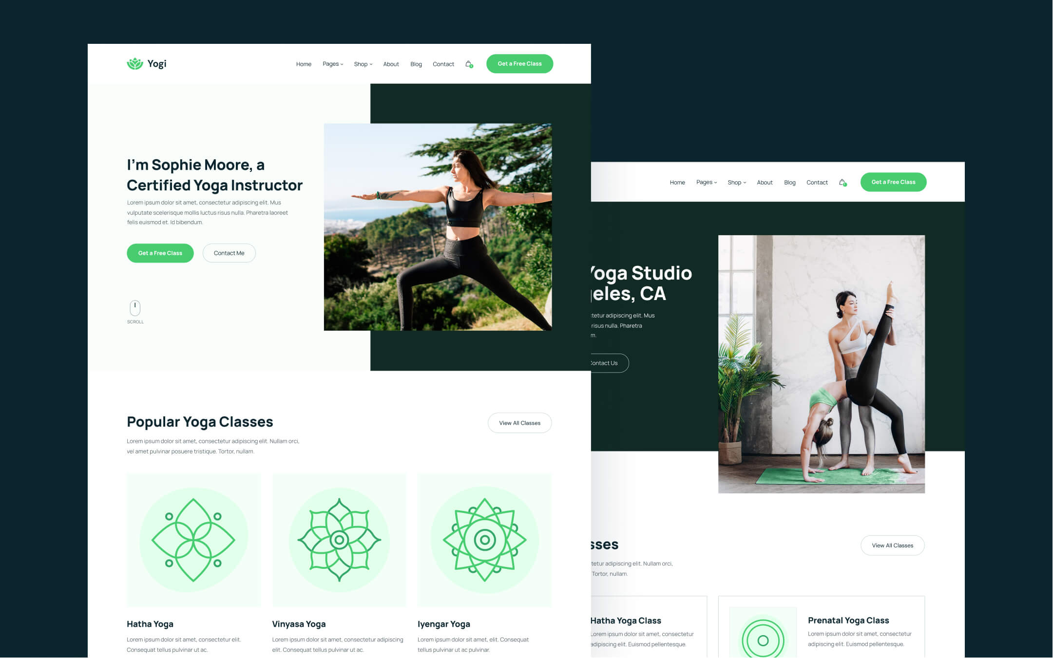 Yoga Teacher & Studio Webflow Template