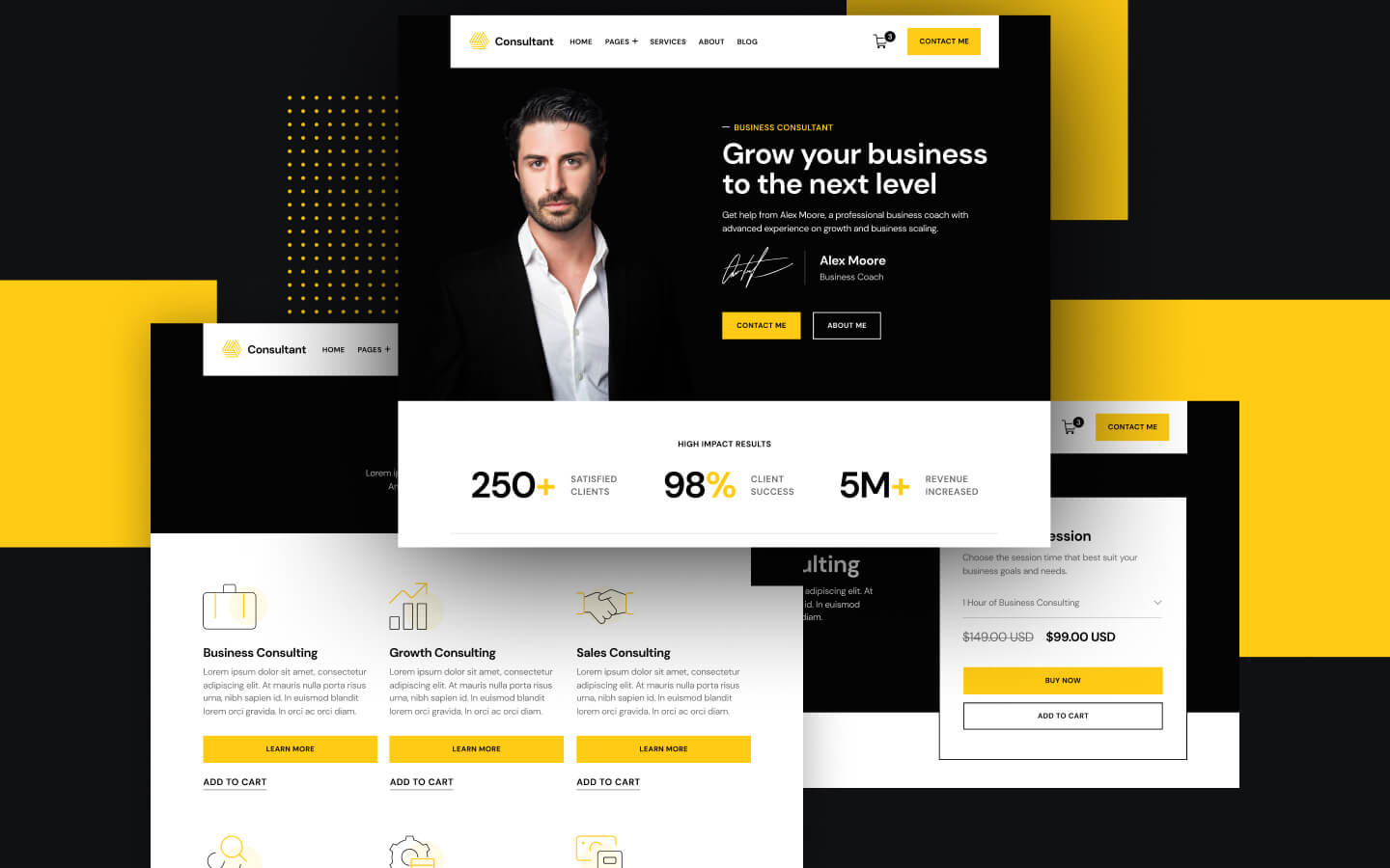Consultant & Business Coach Webflow Template