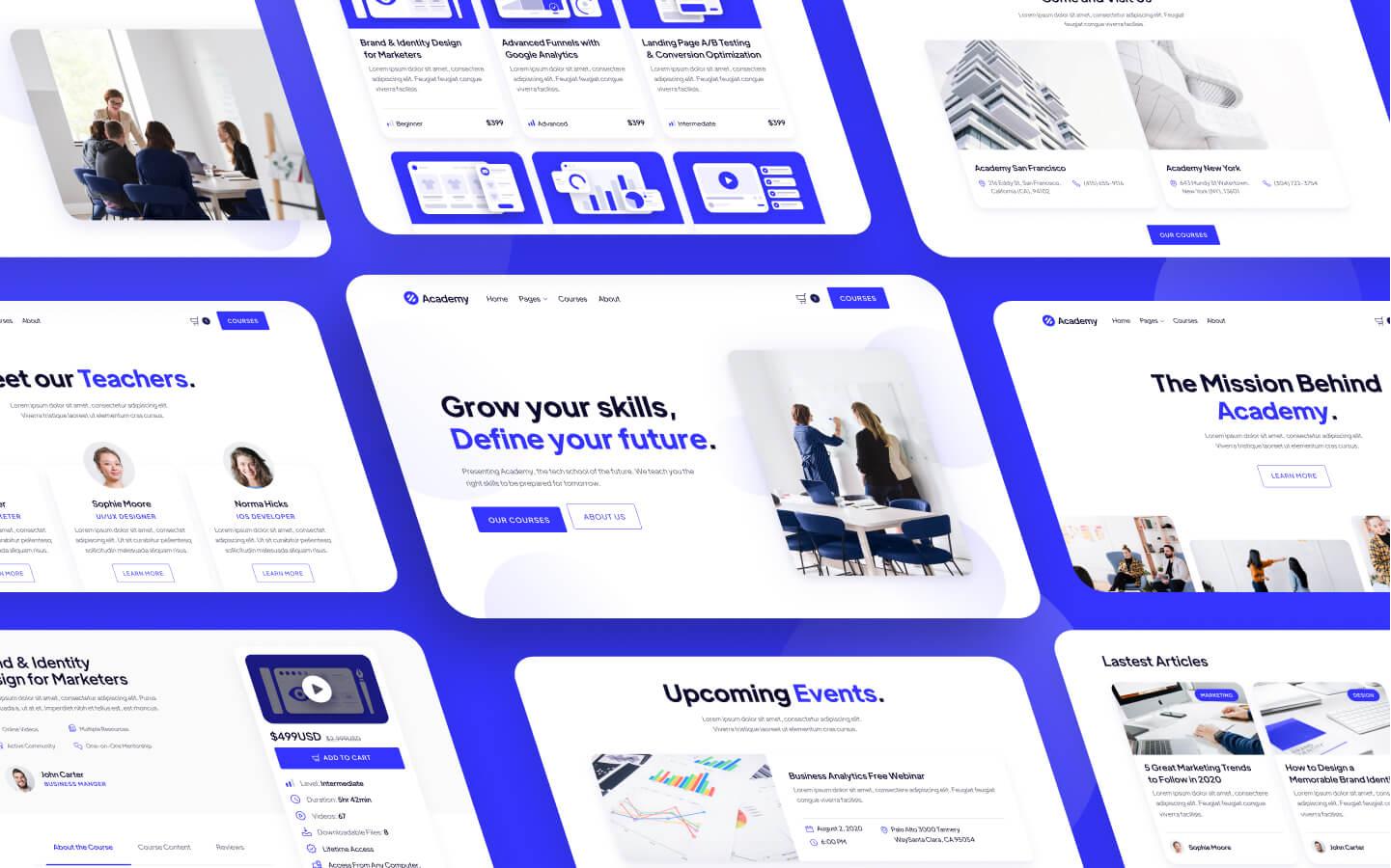Digital School & Online Courses Webflow Template