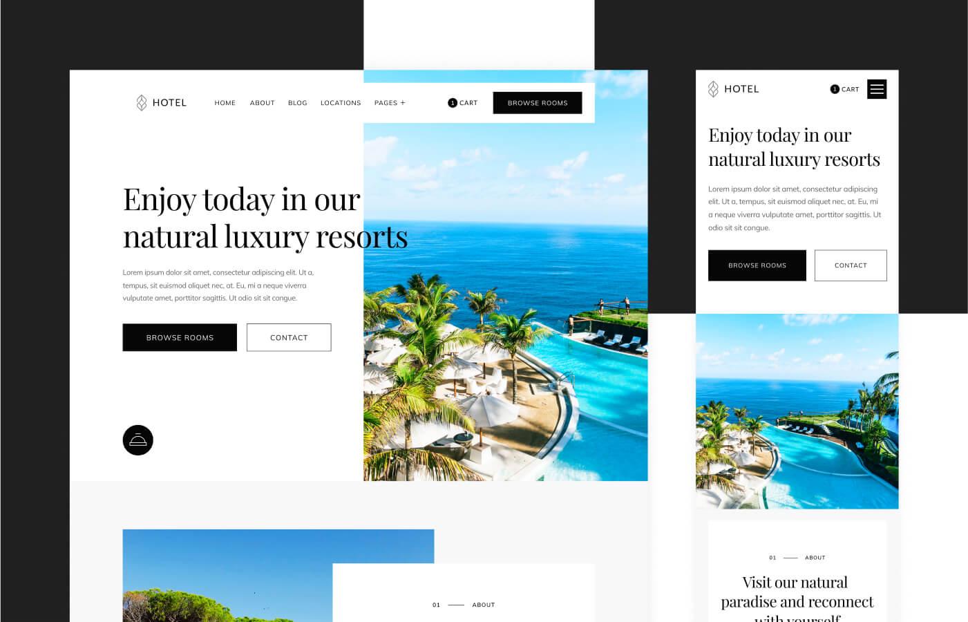 Resort & Hotel Webflow Template