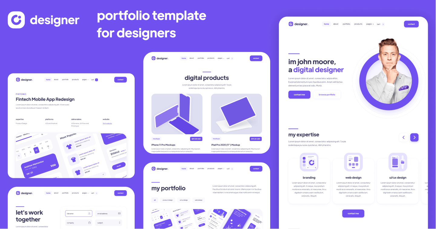 Designer - Design Portfolio Webflow Template