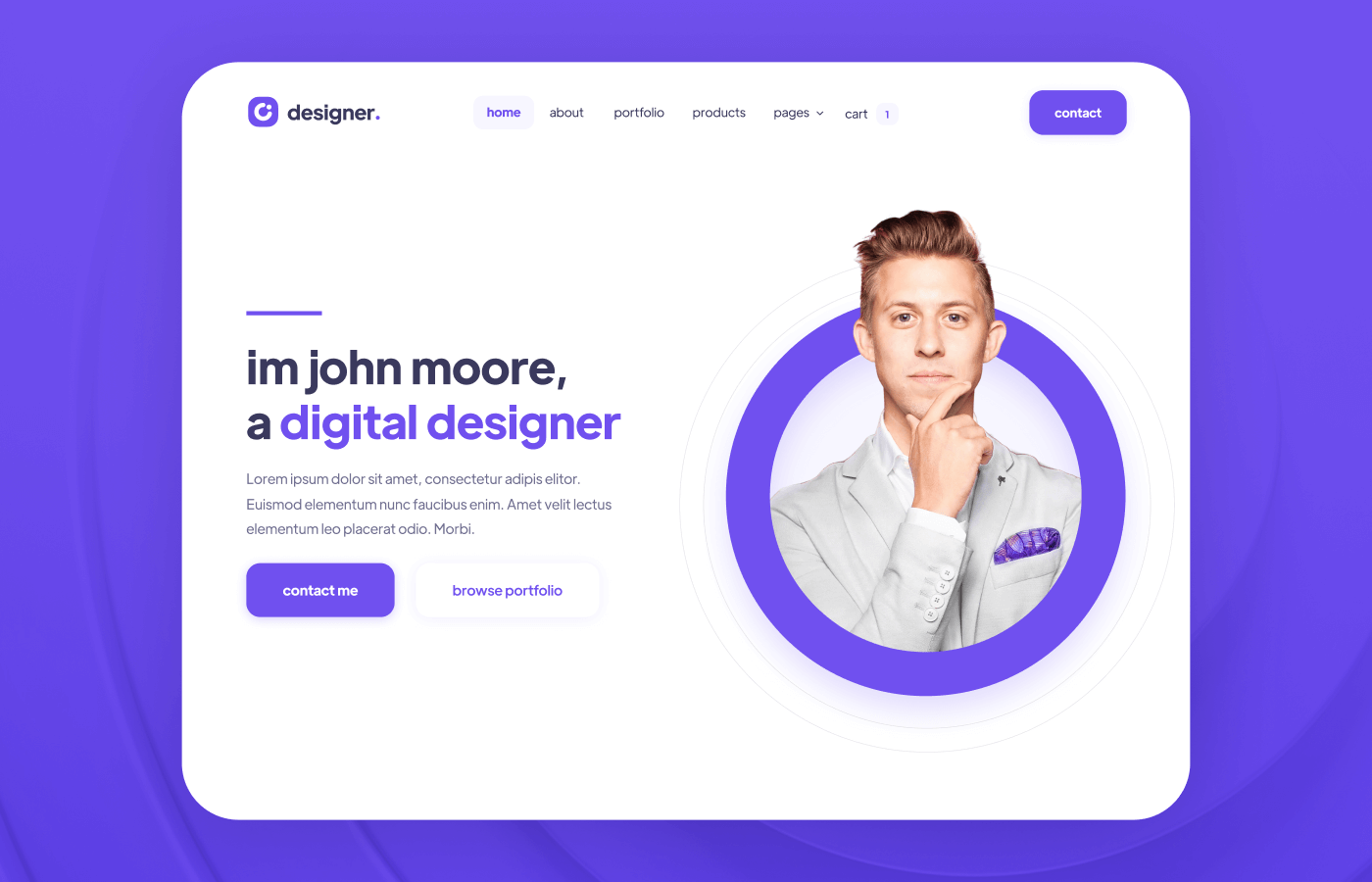 Design Portfolio Webflow Template