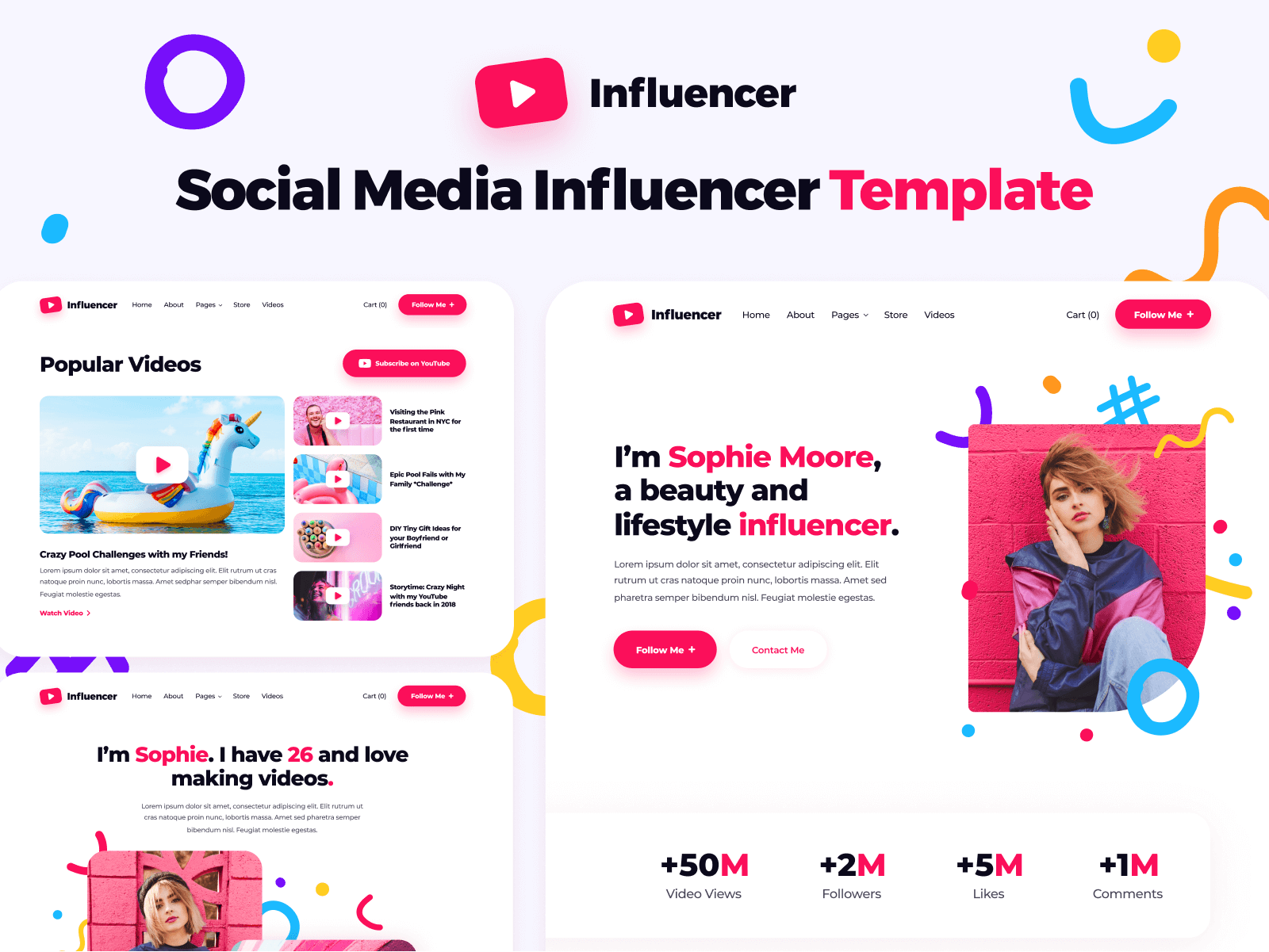 Influencer Webflow Template