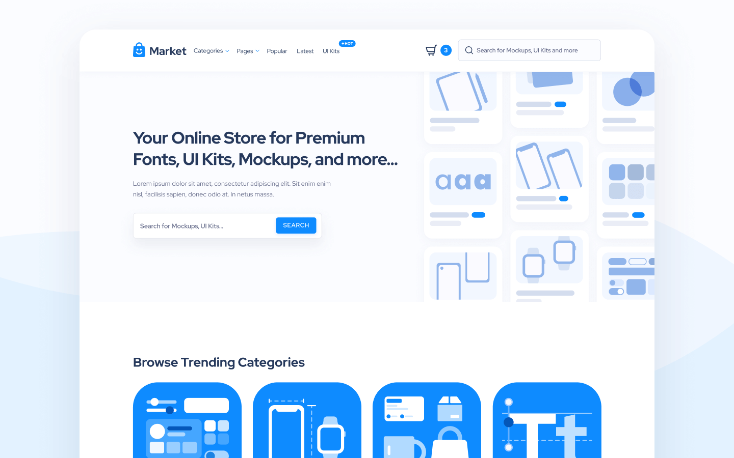 Design Marketplace Webflow Template