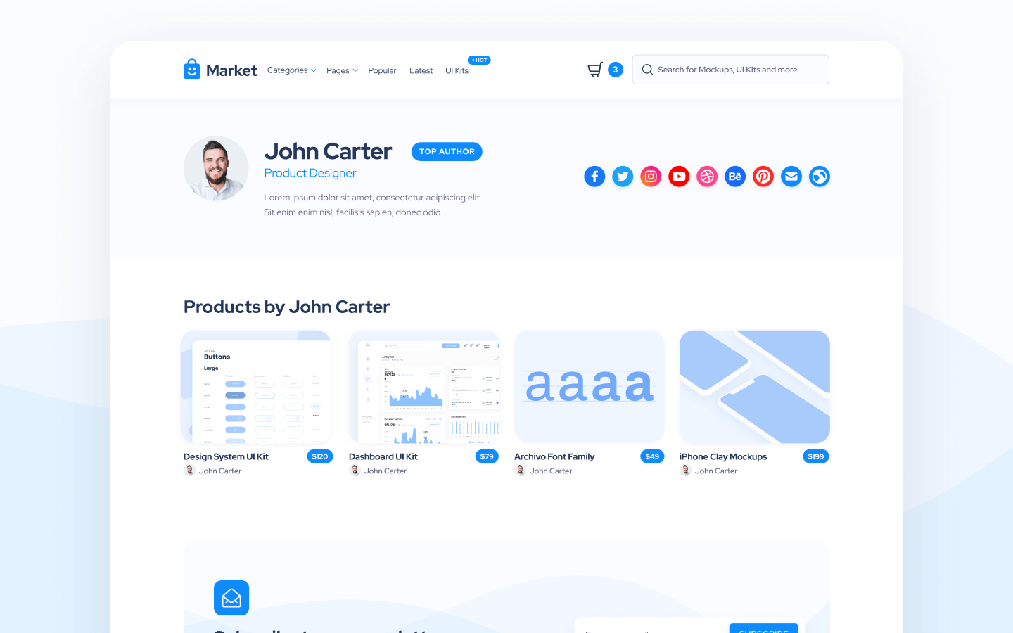 Marketplace Webflow Template