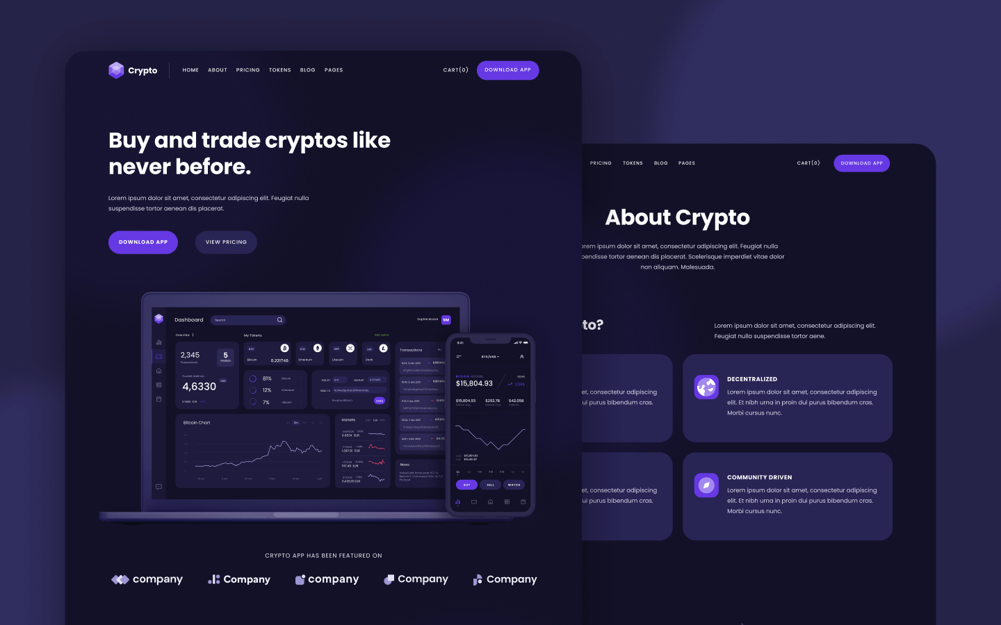Crypto Webflow Template