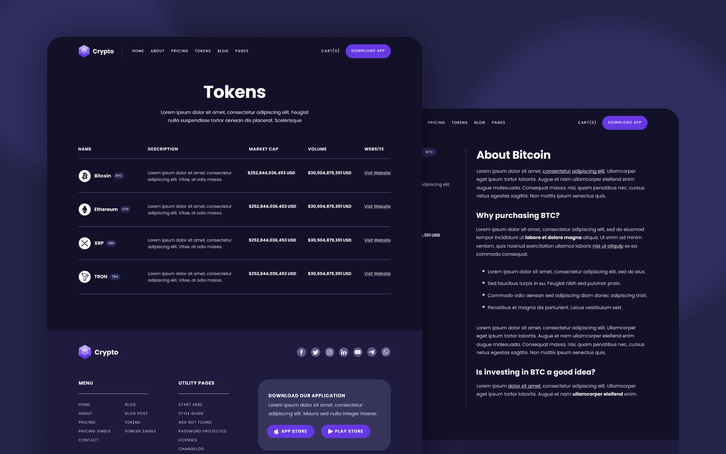 Cryptocurrency Webflow Template