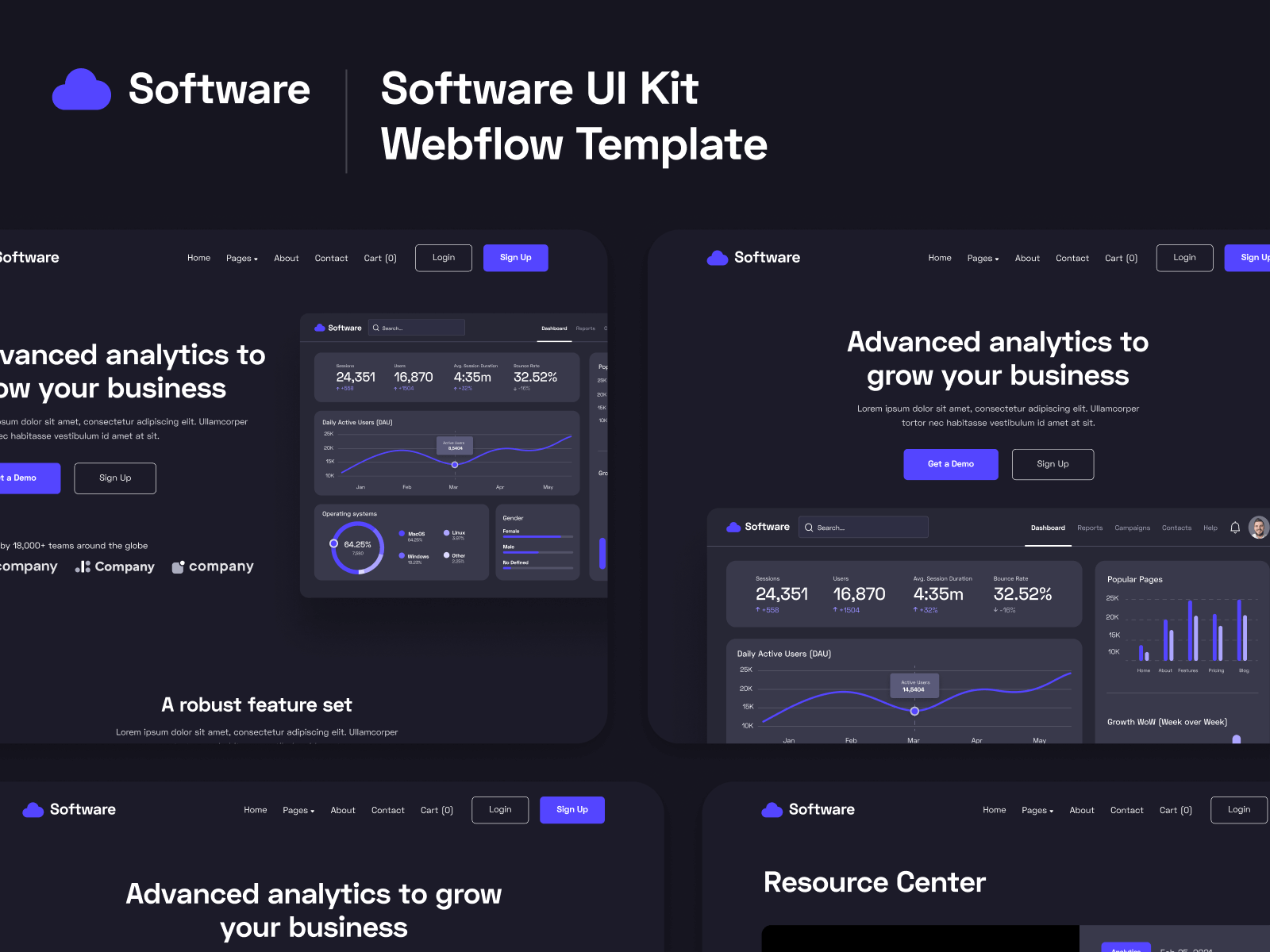 Software SaaS Webflow Template & UI Kit