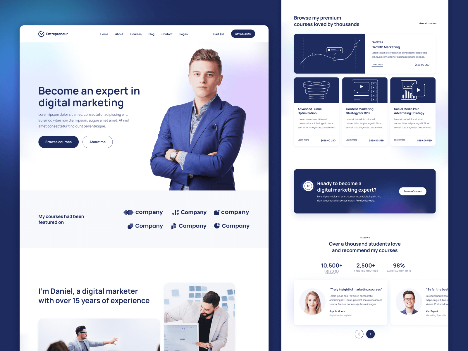 Business Courses Webflow Template