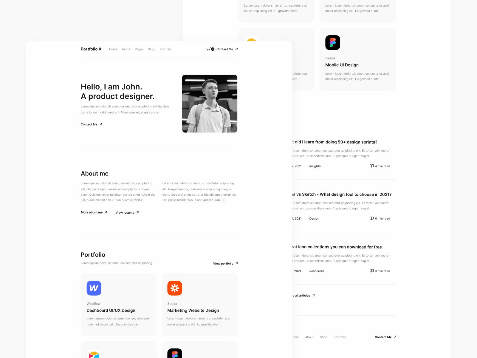 Minimal Portfolio Webflow Template