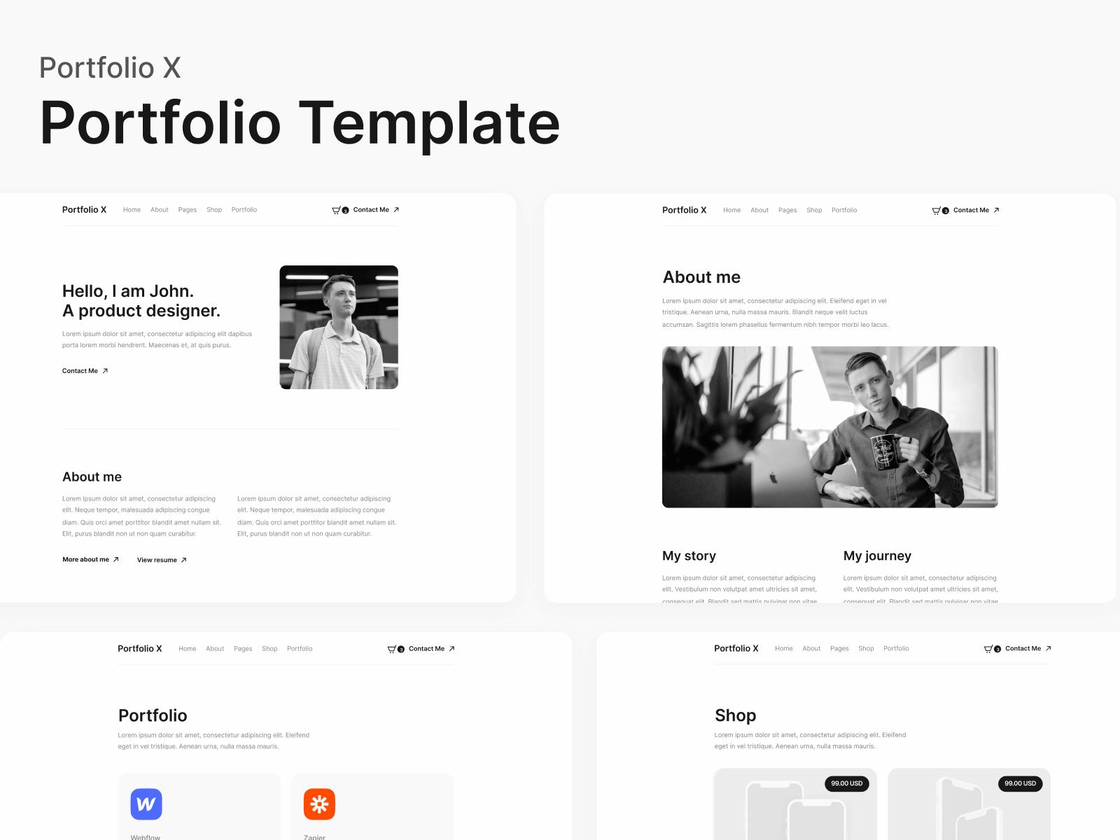 Portfolio Webflow Template