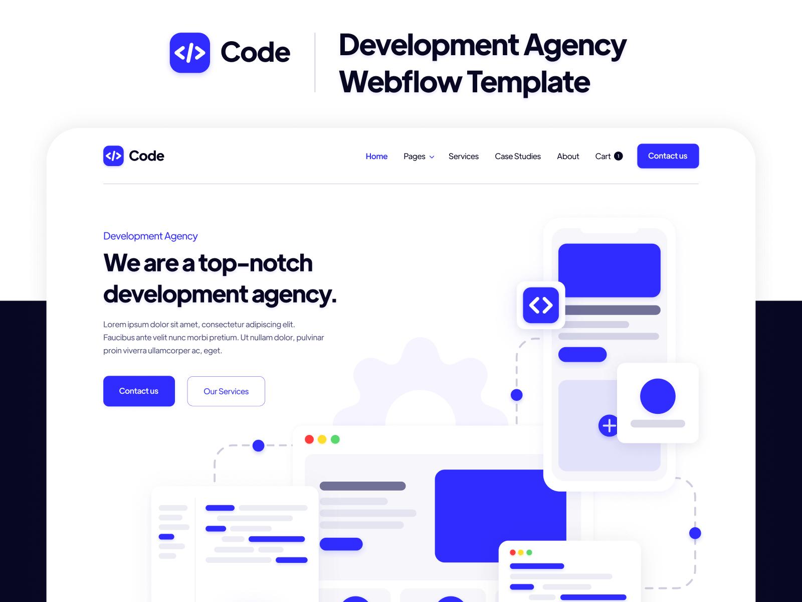 Dev Agency Webflow Template