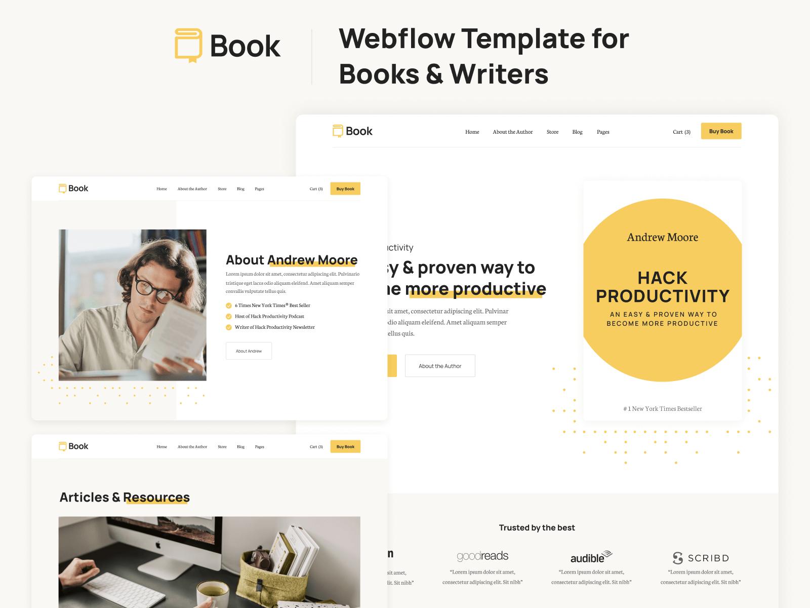 Webflow Template Book
