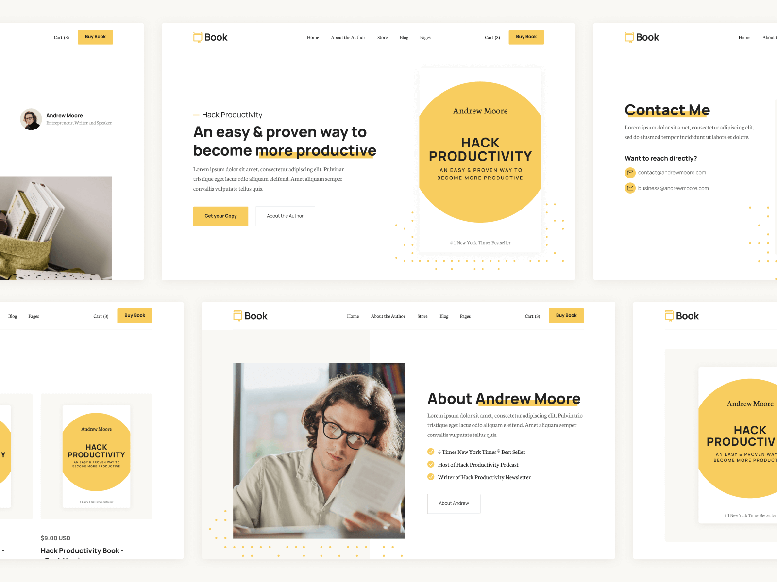 Webflow Template for Books