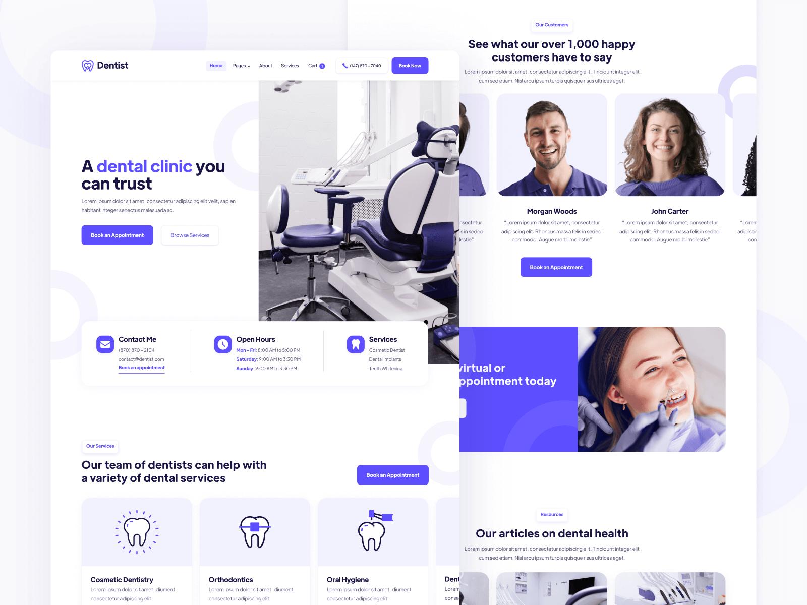 Dentist Webflow Template