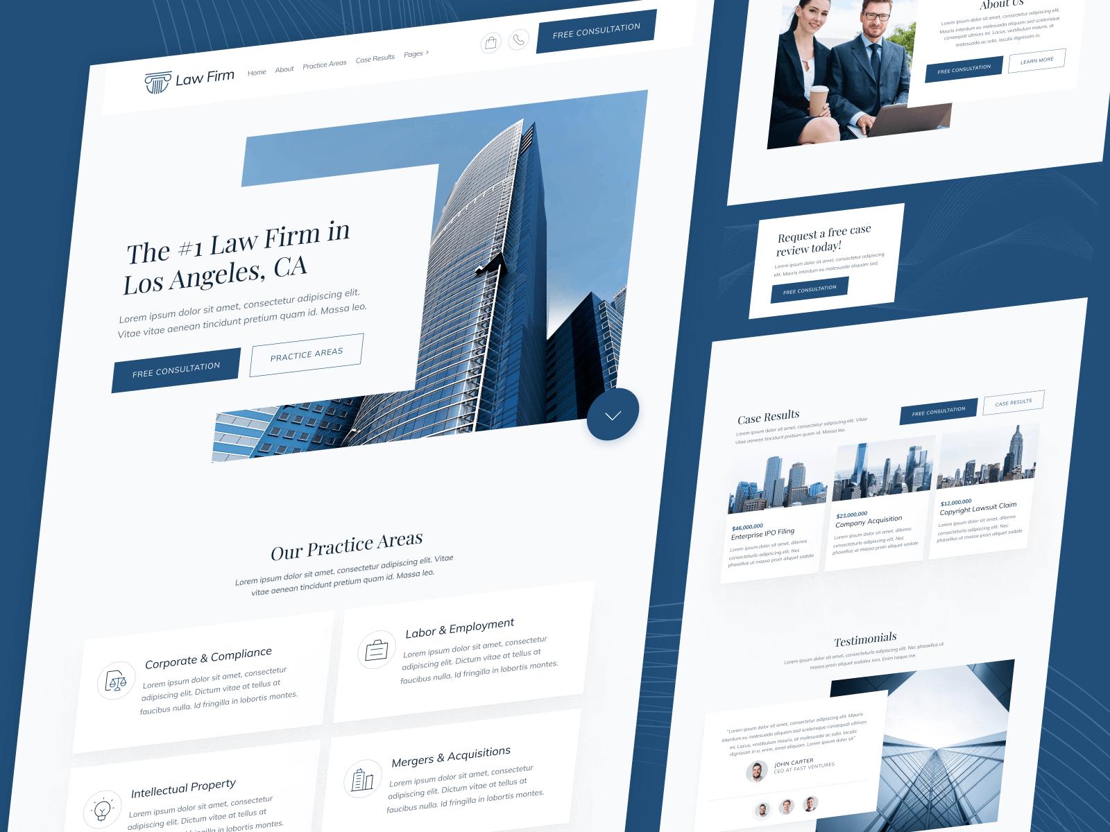 Law Firm Webflow Website Template