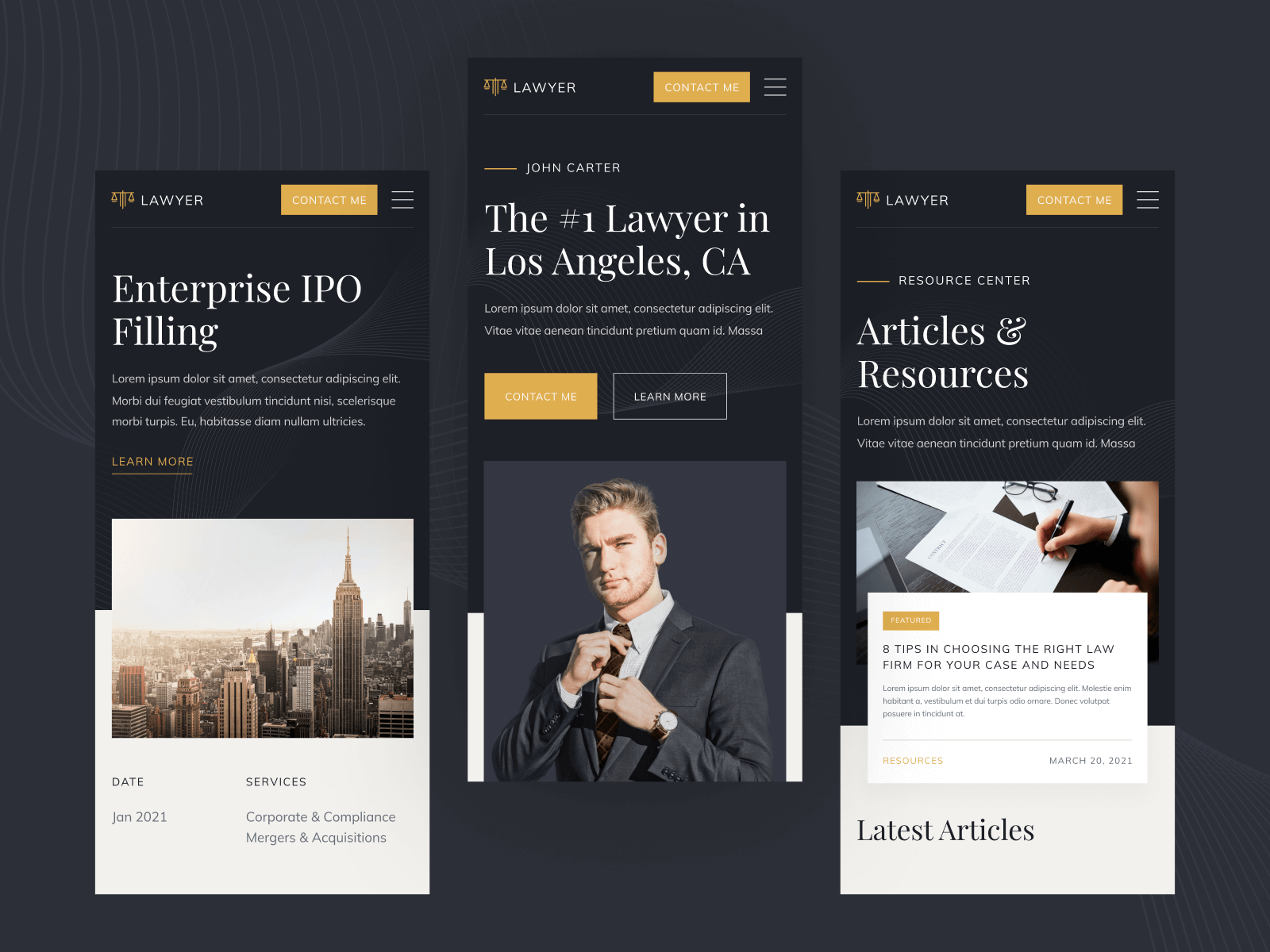 Webflow Template for Lawyers