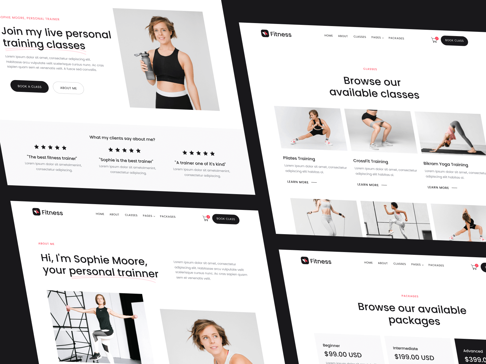 Webflow Template Fitness