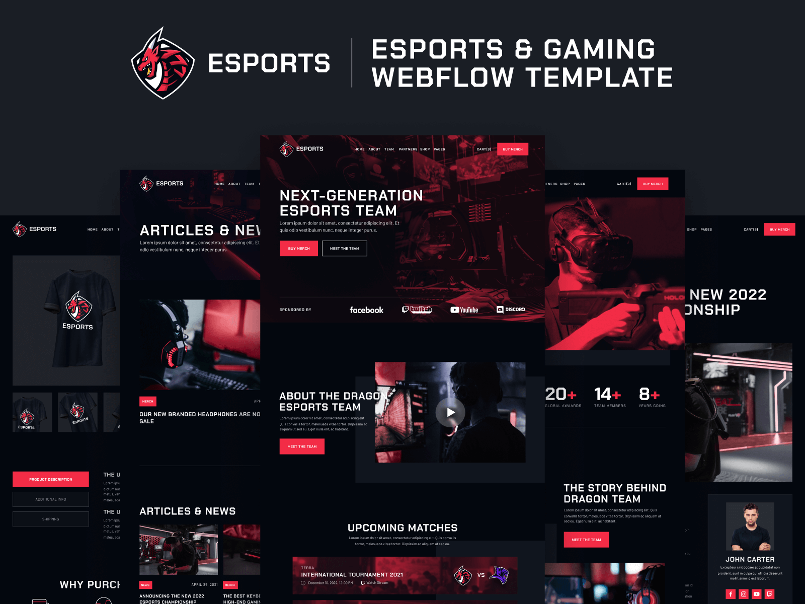 eSports & Gaming Webflow Template