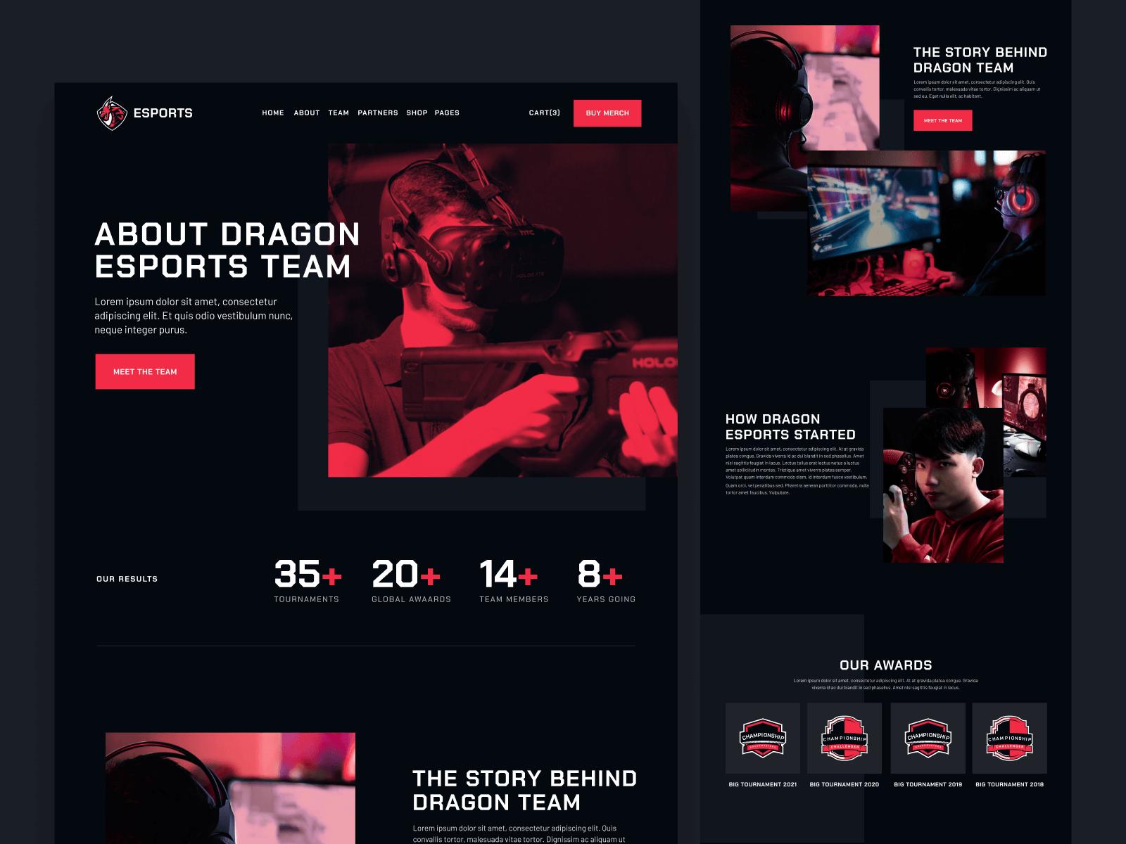 eSports Team Webflow Theme