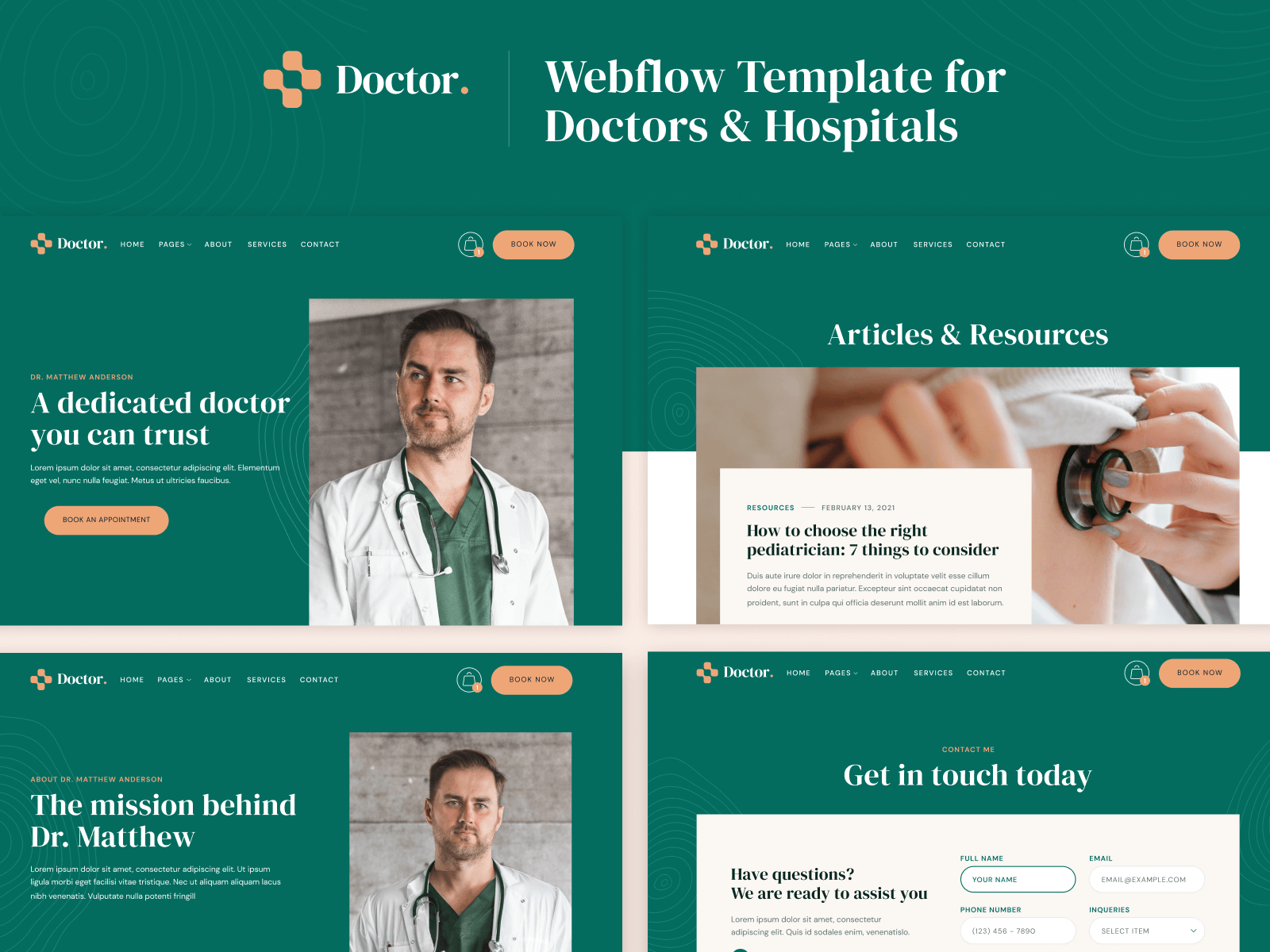 Webflow Template for Doctors