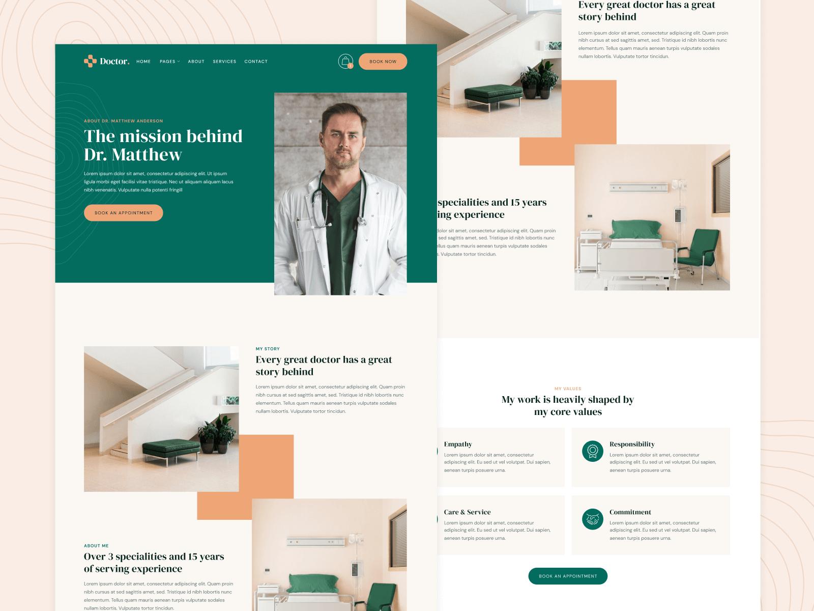 Webflow Website Template Doctor