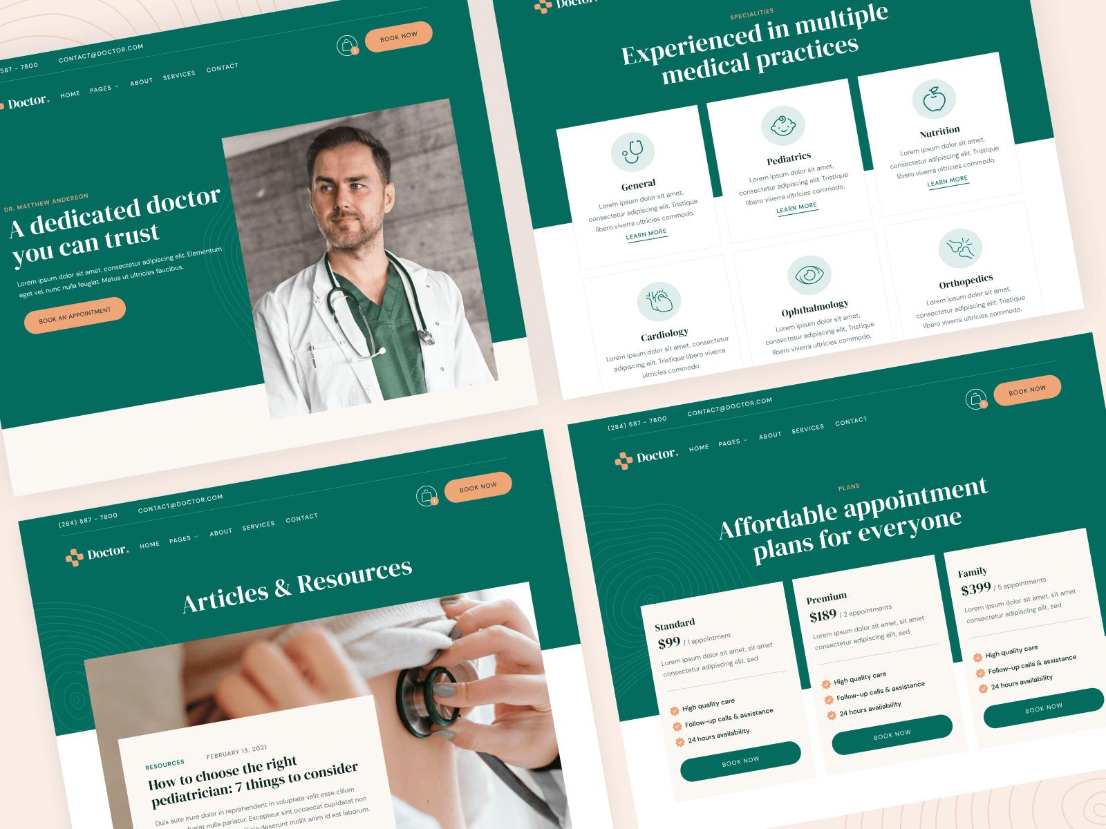 Doctor Webflow Website Templte