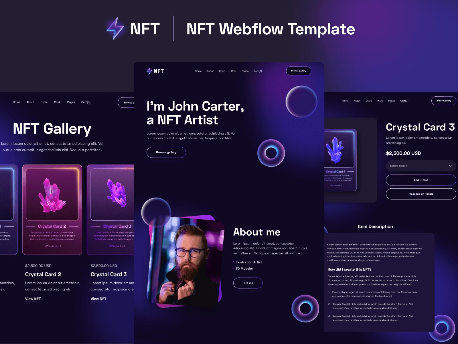 NFT Artist Webflow Template