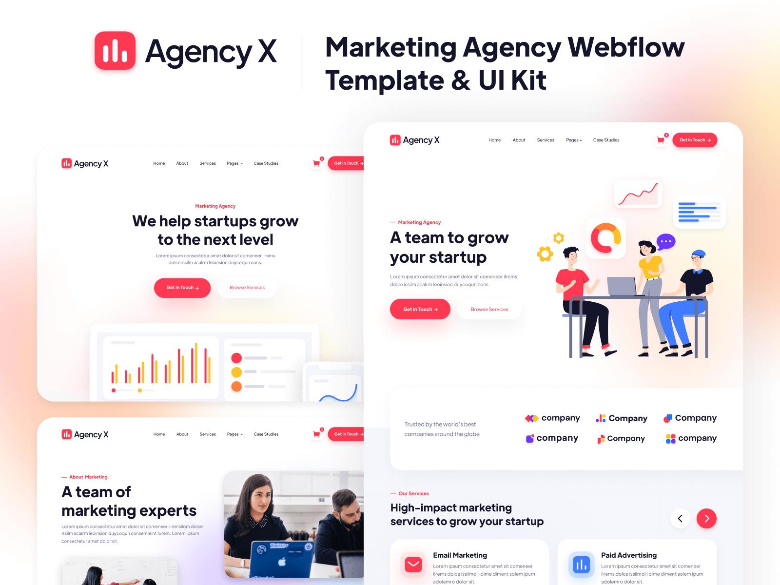 Webflow Template Marketing Agency