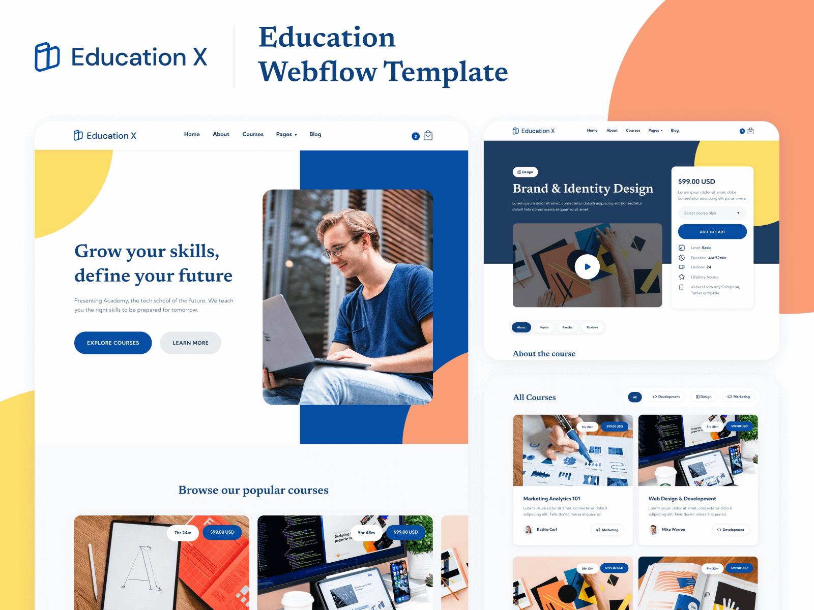 Online Eucation Webflow Website Template