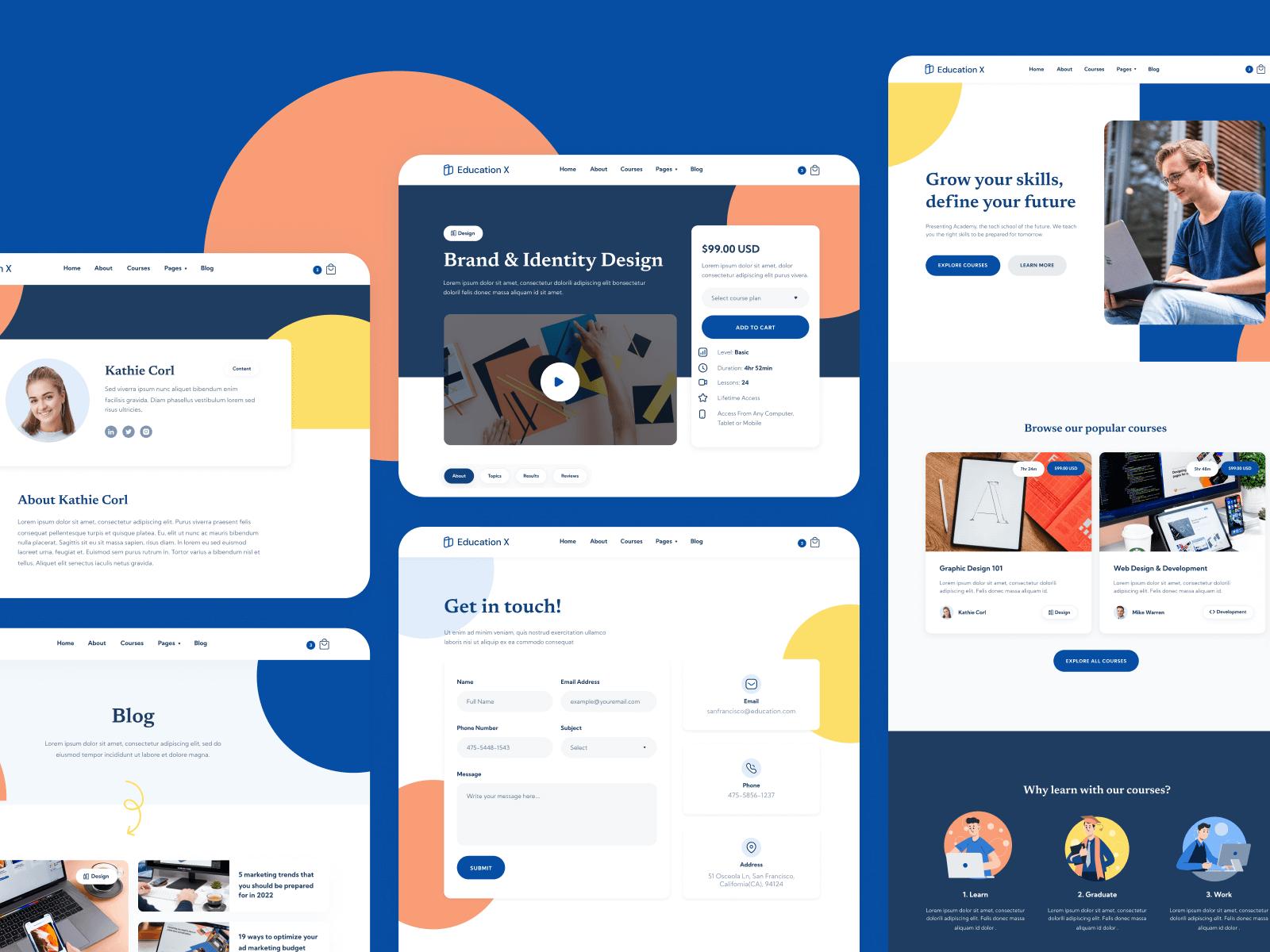 Online School Webflow Template