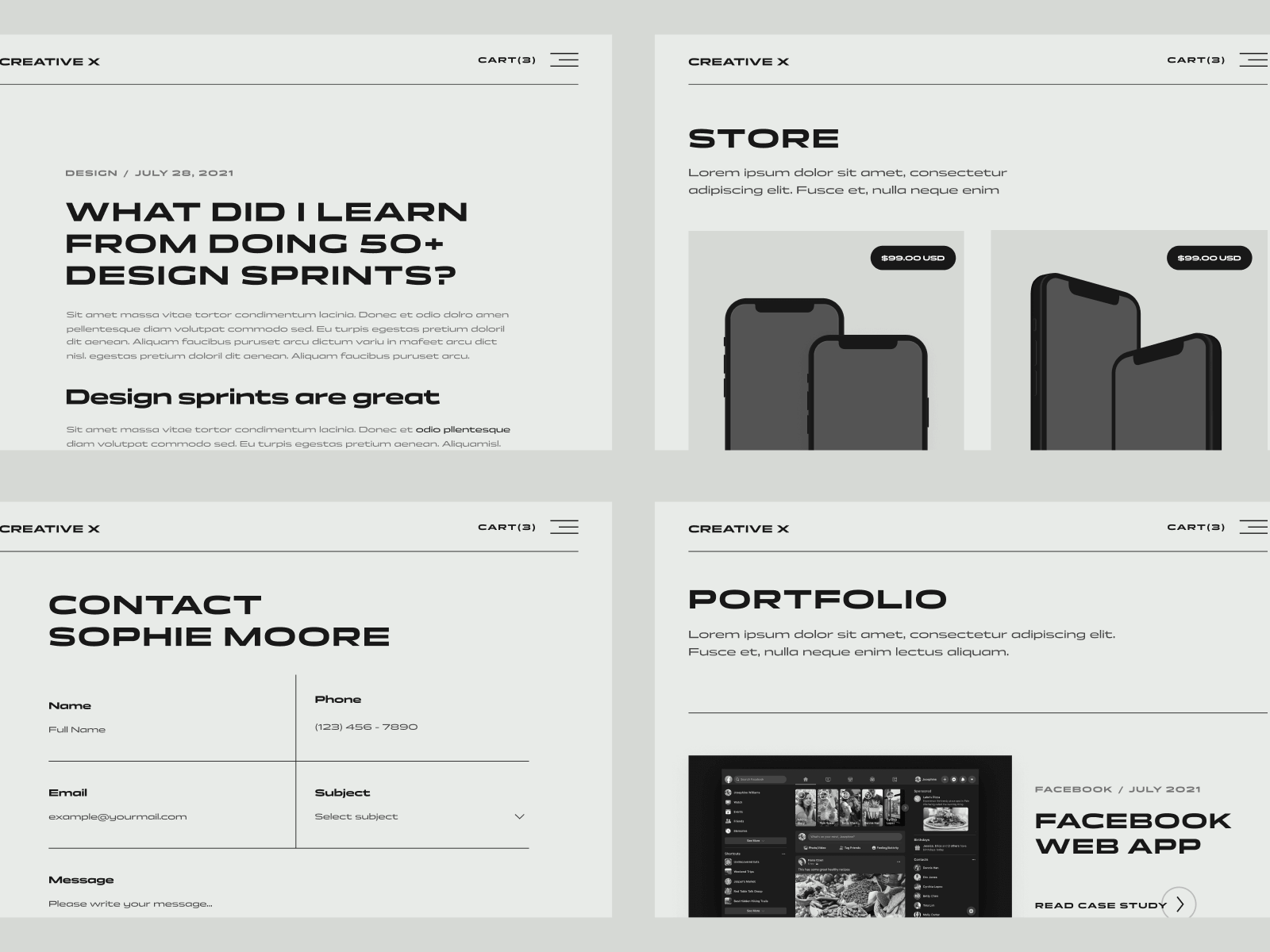 Modern Portfolio Webflow Website Template