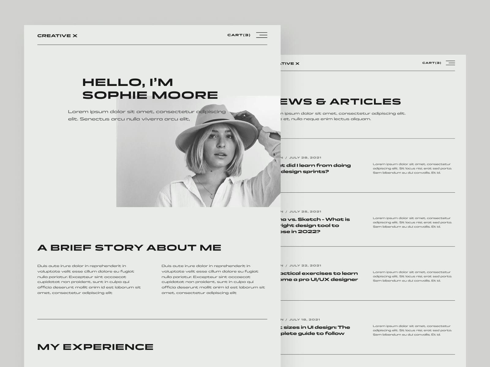 Classy Portfolio Webflow Website Template