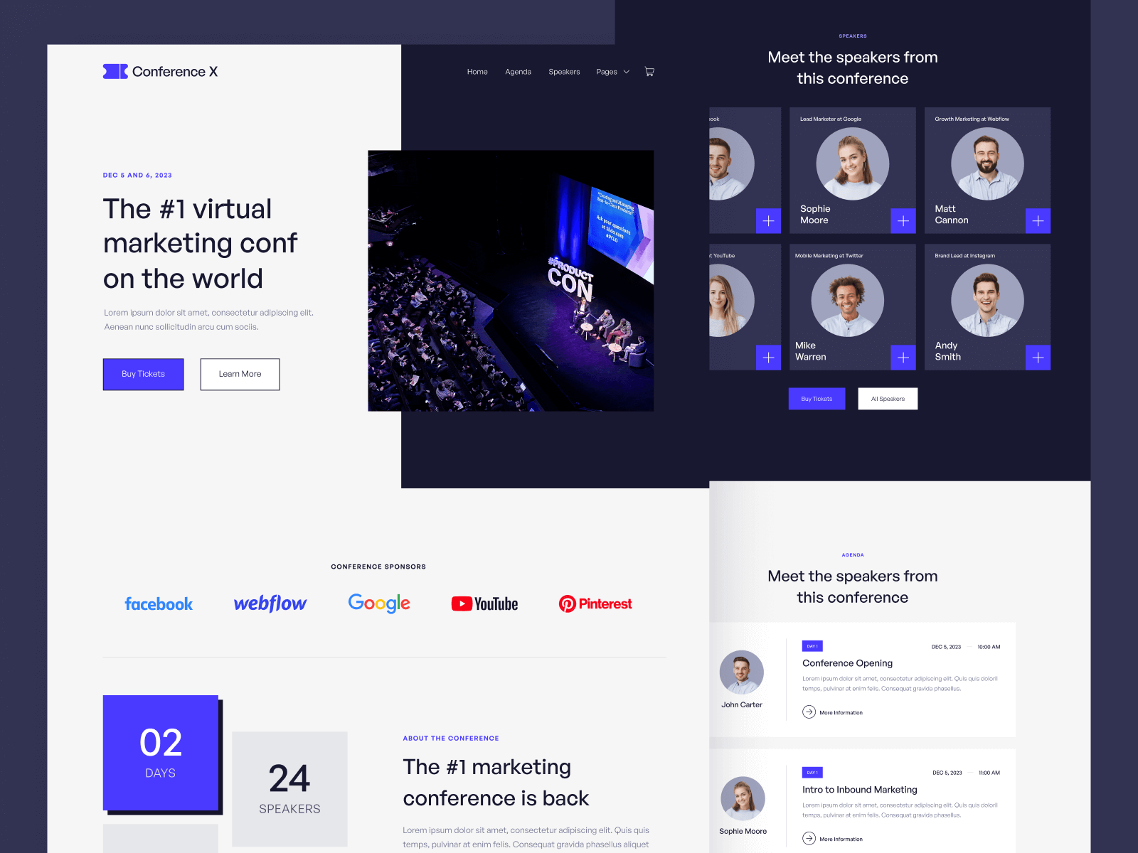 Conference Event Webflow Template