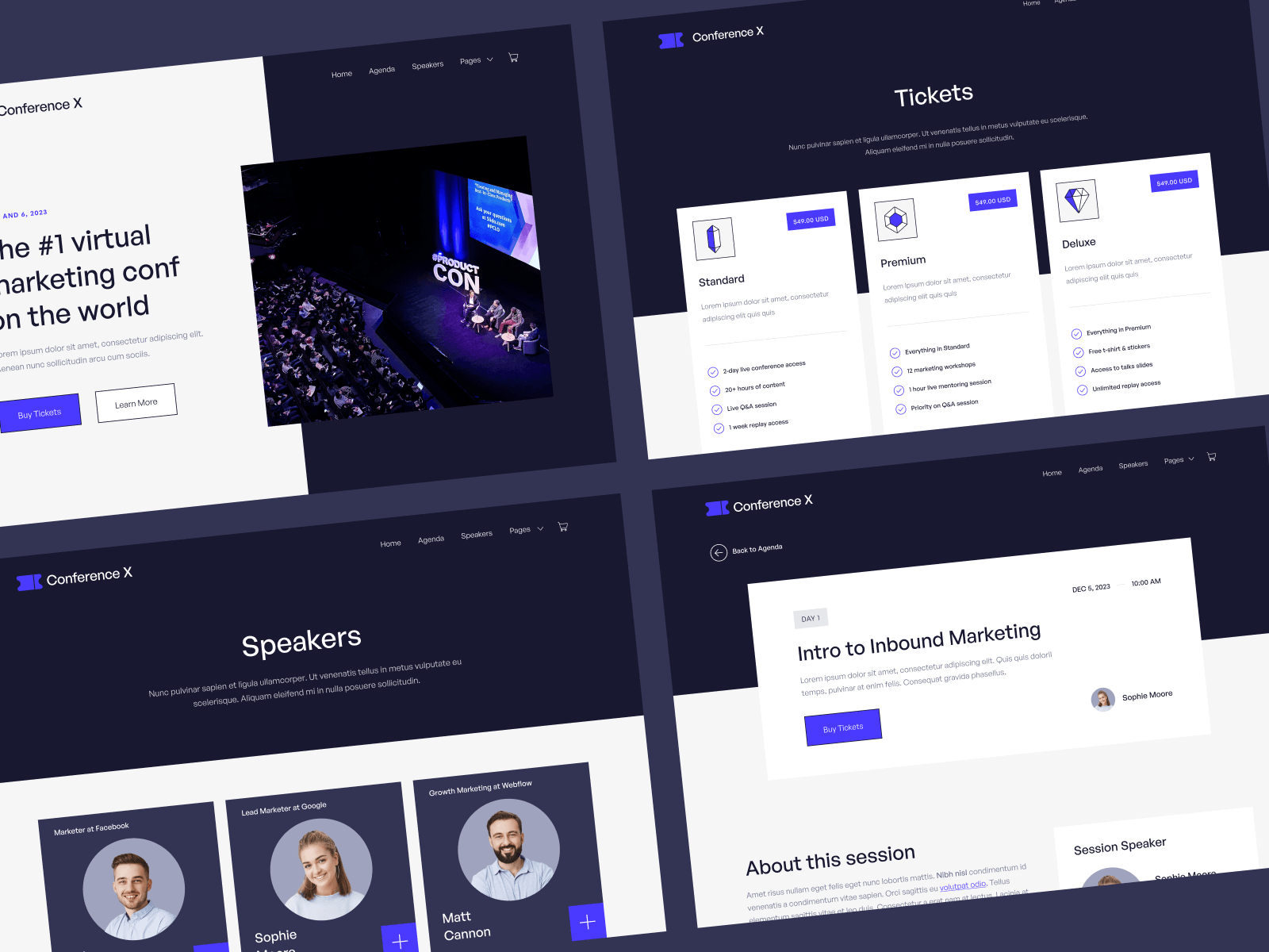 Webflow Website Template Conference