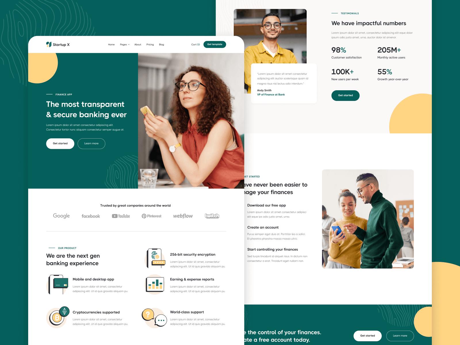 Startup Webflow Template & UI Kit